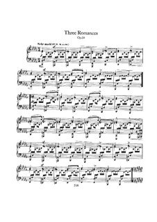 Three Romances for Piano, Op.28: Complete set by Robert Schumann