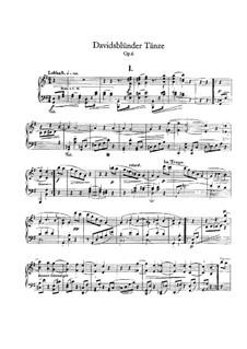 Dances of the League of David, Op.6: For piano by Robert Schumann