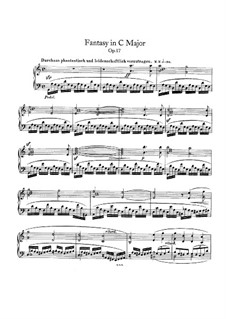 Fantasia in C Major, Op.17: For piano by Robert Schumann
