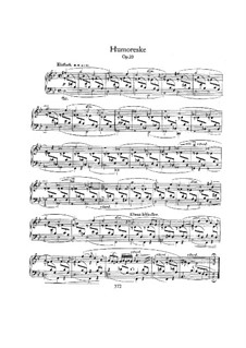 Humoresque in B Flat Major, Op.20: For piano by Robert Schumann