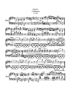 Two Minuets, D.380: For piano by Franz Schubert