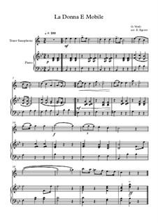 10 Easy Classical Pieces For Tenor Saxophone & Piano Vol.3: La Donna E Mobile by Edward MacDowell, Johann Strauss (Sohn), Johannes Brahms, Georg Friedrich Händel, Felix Mendelssohn-Bartholdy, Robert Schumann, Muzio Clementi, Giuseppe Verdi, Anton Rubinstein, Johan Halvorsen