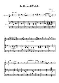 10 Easy Classical Pieces For Clarinet & Piano Vol.3: La Donna E Mobile by Edward MacDowell, Johann Strauss (Sohn), Johannes Brahms, Georg Friedrich Händel, Felix Mendelssohn-Bartholdy, Robert Schumann, Muzio Clementi, Giuseppe Verdi, Anton Rubinstein, Johan Halvorsen