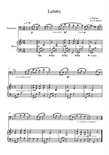 10 Easy Classical Pieces For Trombone & Piano Vol.3: Lullaby by Edward MacDowell, Johann Strauss (Sohn), Johannes Brahms, Georg Friedrich Händel, Felix Mendelssohn-Bartholdy, Robert Schumann, Muzio Clementi, Giuseppe Verdi, Anton Rubinstein, Johan Halvorsen
