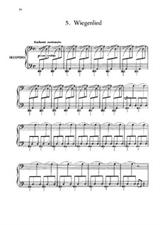 Six Children's Pieces, Op.34: No.5 Wiegenlied by Anton Arensky