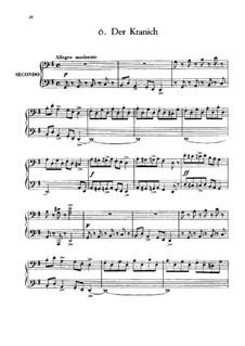 Six Children's Pieces, Op.34: No.6 Der Kranich by Anton Arensky