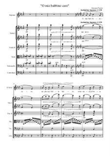 O mio babbino caro: For soprano and string orchestra by Giacomo Puccini