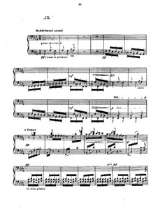 No.9 La sérénade interrompue: For piano by Claude Debussy