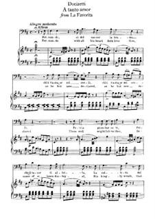 La favorita: A tanto amor, for voice and piano by Gaetano Donizetti