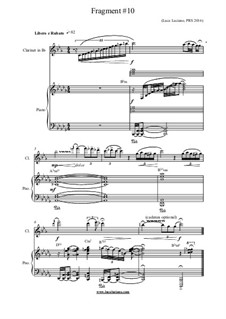 Fragment No.10: For clarinet and piano by Luca Luciano