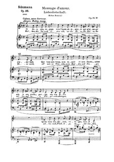Six Poems, Op.36: No.6 Message of Love by Robert Schumann