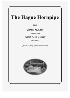 All of The Callum Collection, Op.7: No.8 The Hague Hornpipe. Solo piano (medium) by Simon Paul Austin