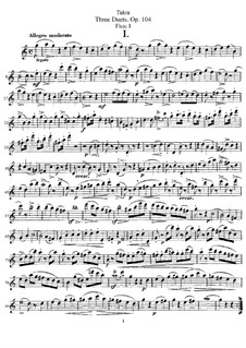 Three Duets for Two Flutes, Op.104: Flute I part by Jean-Louis Tulou