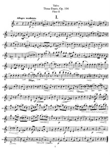 Three Duets for Two Flutes, Op.104: Flute II part by Jean-Louis Tulou