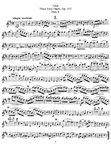 Three Easy Duets for Two Flutes, Op.102: Flute II part by Jean-Louis Tulou