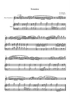 10 Easy Classical Pieces For Tenor Saxophone & Piano Vol.3: Sonatina (In C Major) by Edward MacDowell, Johann Strauss (Sohn), Johannes Brahms, Georg Friedrich Händel, Felix Mendelssohn-Bartholdy, Robert Schumann, Muzio Clementi, Giuseppe Verdi, Anton Rubinstein, Johan Halvorsen
