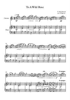 10 Easy Classical Pieces For Clarinet & Piano Vol.3: To A Wild Rose by Edward MacDowell, Johann Strauss (Sohn), Johannes Brahms, Georg Friedrich Händel, Felix Mendelssohn-Bartholdy, Robert Schumann, Muzio Clementi, Giuseppe Verdi, Anton Rubinstein, Johan Halvorsen