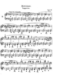 Lyric Pieces, Op.38: No.1 Cradle Song by Edvard Grieg