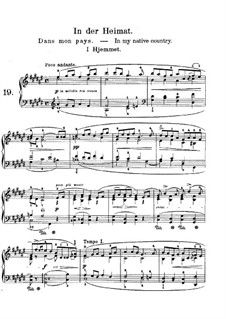 Lyric Pieces, Op.43: No.3 In My Native Country by Edvard Grieg
