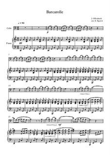 10 Easy Classical Pieces For Cello & Piano Vol.4: Barcarolle by Johann Sebastian Bach, Tomaso Albinoni, Joseph Haydn, Wolfgang Amadeus Mozart, Franz Schubert, Jacques Offenbach, Richard Wagner, Giacomo Puccini, folklore