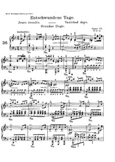Lyric Pieces, Op.57: No.1 Vanished Days by Edvard Grieg