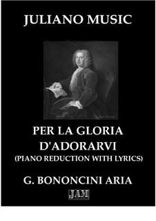 Griselda: Per la gloria d'adorarvi (Piano Reduction with Lyrics) by Giovanni Maria Bononcini