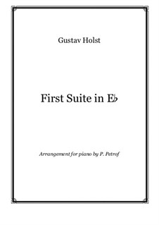 Suite No.1 for Band: For piano solo by Gustav Holst