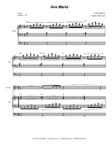 Ave Maria, for Two Instruments, D.839 Op.52 No.6: For flute or violin solo - organ accompaniment by Franz Schubert