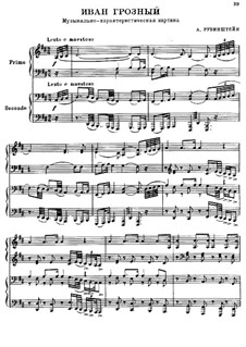 Ivan the Terrible, Op.79: For piano four hands by Anton Rubinstein