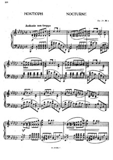 Nocturne in G Flat Major, Op.28 No.1: For piano by Anton Rubinstein
