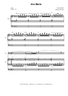 Ave Maria, for Two Instruments, D.839 Op.52 No.6: For trombone solo - organ accompaniment by Franz Schubert