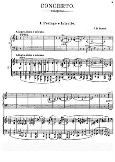Concerto for Piano and Orchestra in C Major, BV 247 Op.39: Movement I, for piano four hands by Ferruccio Busoni