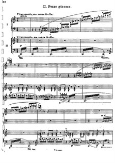 Concerto for Piano and Orchestra in C Major, BV 247 Op.39: Movement II, for piano four hands by Ferruccio Busoni