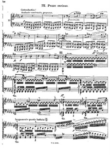 Concerto for Piano and Orchestra in C Major, BV 247 Op.39: Movement III, for piano four hands by Ferruccio Busoni