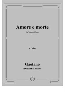 Amore e morte: F minor by Gaetano Donizetti