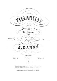 Villanelle for Violin and Piano, Op.14: Score by Jules Danbé