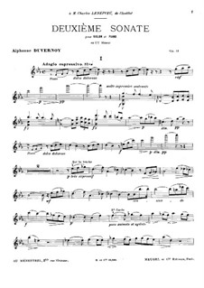 Sonata for Violin and Piano No.2 in C Minor, Op.51: Solo part by Victor Alphonse Duvernoy