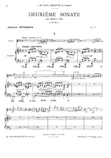 Sonata for Violin and Piano No.2 in C Minor, Op.51: Score by Victor Alphonse Duvernoy