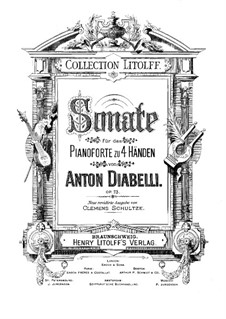 Sonatа in F Major for Piano Four Hands, Op.73: Sonatа in F Major for Piano Four Hands by Anton Diabelli