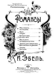 Romanzen, Op.1: Nr.3 Sie war Dein by Heinrich Karl Ebell