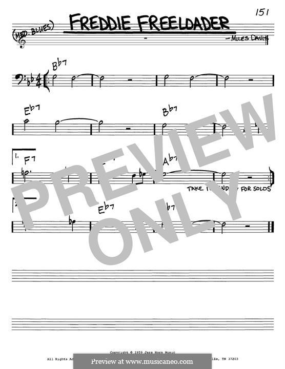 Freddie Freeloader: Melody line by Miles Davis