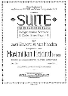 Suite for Two Pianos Four Hands, Op.58: Suite for Two Pianos Four Hands by Maximilian Heidrich