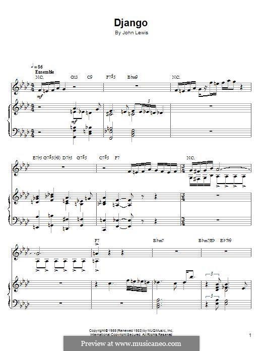 Django: For piano by John Aaron Lewis