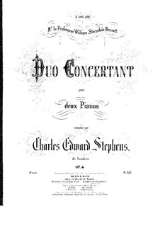Concerto Duo for Two Pianos Four Hands, Op.4: Piano I part by Charles Edward Stephens