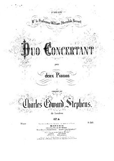 Concerto Duo for Two Pianos Four Hands, Op.4: Piano II part by Charles Edward Stephens