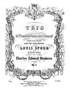 Piano Trio in F Major, Op.1: Full score by Charles Edward Stephens