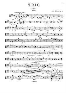 Trio for Violin, Viola (or Cello) and Piano, Op.46: Viola part by Julius Zellner