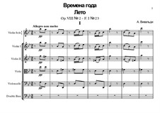 Violin Concerto No.2 in G Minor 'L'estate', RV 315: Full score by Antonio Vivaldi