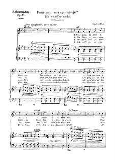 Songs and Romances, Op.51: No.3 Ich wand're nicht (The Joys of Home) by Robert Schumann