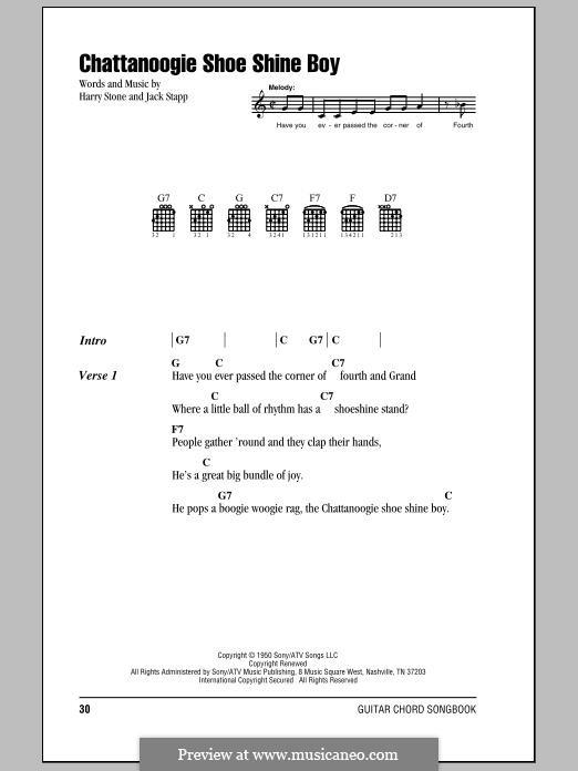 Chattanoogie Shoe-Shine Boy (Glen Miller): For guitar by Harry Stone, Jack Stapp